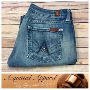 7 For All Mankind A Pocket Bling Crystal Jeans